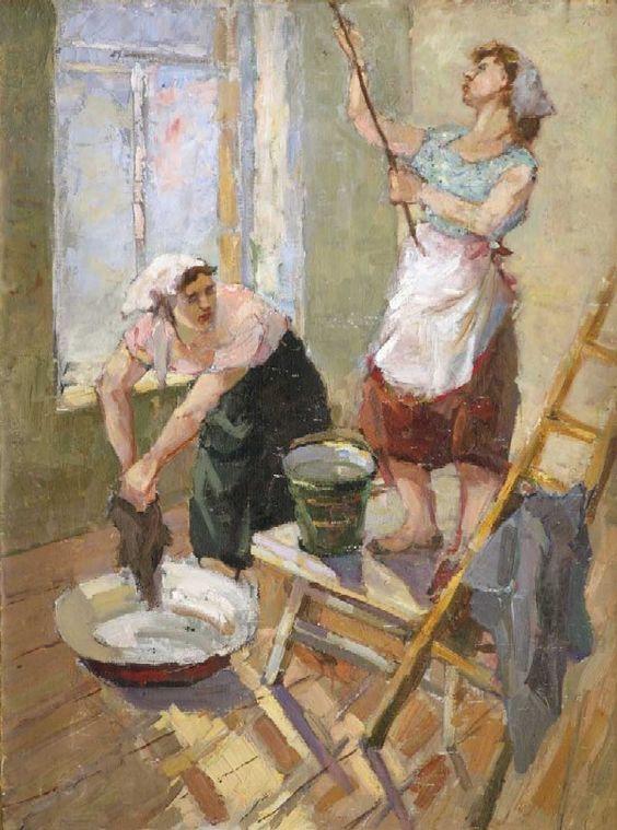 Алексеева Н.В. —Весенняя уборка.  : 1965 г.: