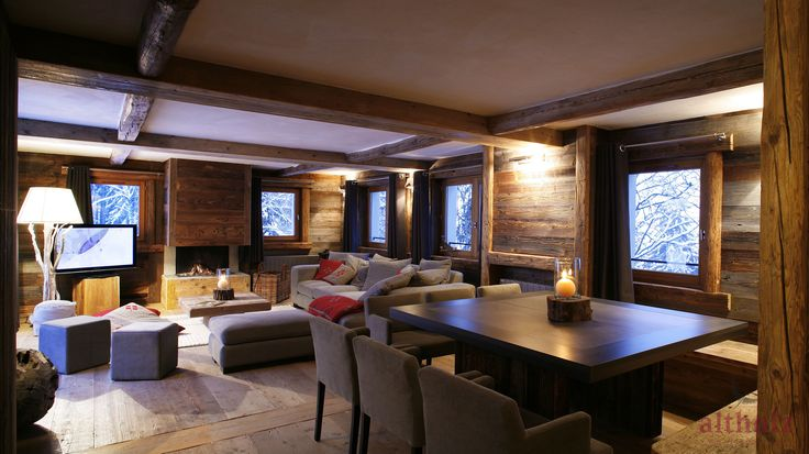 Chalet  wood proyect, wall wood, textures, flooring, decoration, convination.Altholz. Paumats.