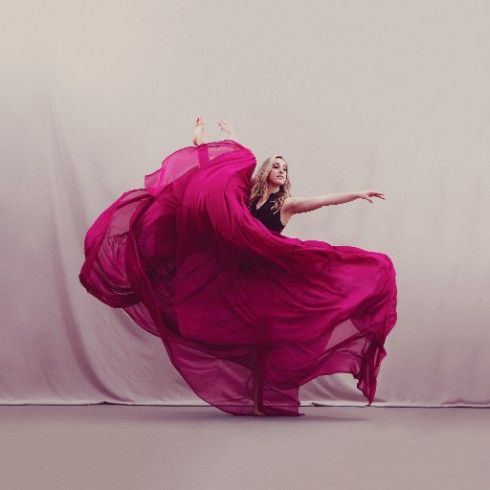 Dancer In Fuchsia Skirt Images by Alexis McKeown