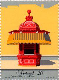 Crónicas Portuguesas: Maluda e os seus Quiosques de Lisboa em selos