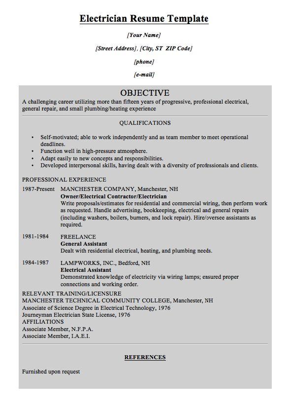 electrician resume templates template billybullock us