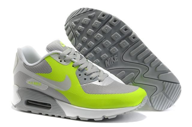 Only$74.28 NIKE AIR MAX 90 HYPERFUSE NEUTRAL GREY VOLT Free Shipping!