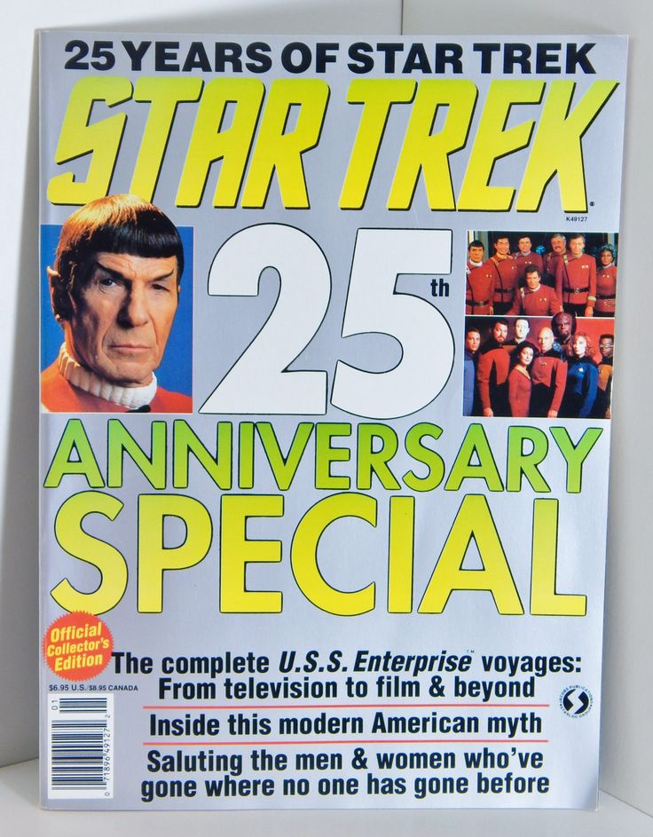 Vintage Star Trek 25th Anniversary Special Magazine Collector's Edition Star Trek Television Episodes Movies and Animation by OffbeatAvenue on Etsy