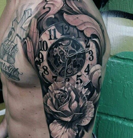 Another stunning Time-piece tattoo