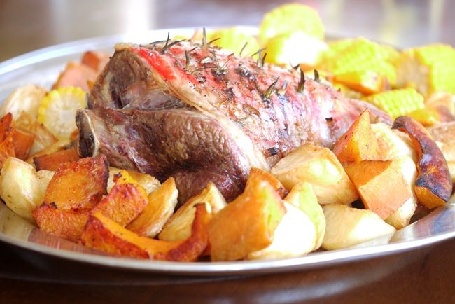 Julie Goodwin's tip for cooking roast lamb: A rule of thumb for lamb is 15 minutes, then 15 minutes per 500g (in oven at 180°C)