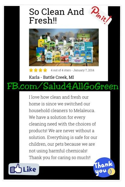 To see more Melaleuca Product reviews, GO TO:           www.whyilovemelaleuca.com          #Melaleuca #GoGreen #Salud4All #NoHarshChemicals  #SafeHomeForFamilyAndPets #NonToxicCleaningProducts     FB.com/Salud4AllGoGreen