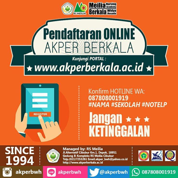 Yuk daftar bisa via online, kapan saja dan dimana saja via www.akperberkala.ac.id