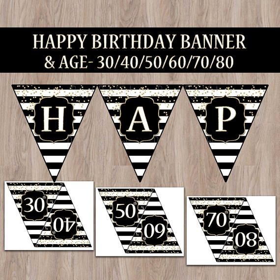 Best 25+ Happy Birthday Banners Ideas On Pinterest
