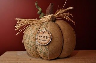 Halloween:  Fabric Pumpkin Tutorial