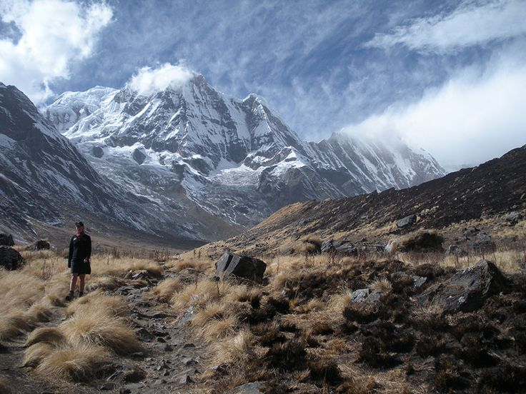 A stunning view of Annapurna on the trek from Machapucchare Base Camp to ABC.     #nepal #himalayas #hikingnepal