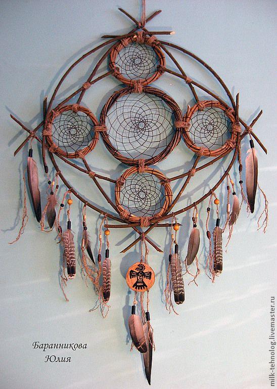 """Купить Ловец снов """"Великий Дух"""" - ловец снов, индейцы, гаучо, оберег, этно"""