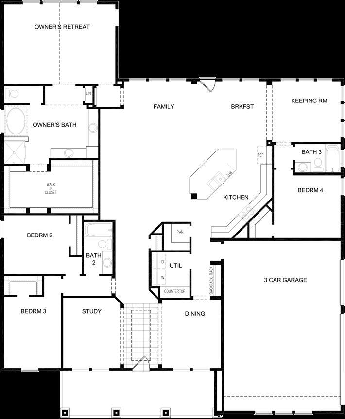 1st Floor 2700 ft david weekly homes