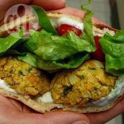 Jean's falafel @ allrecipes.nl