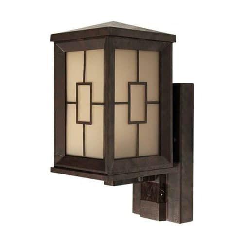 Heath Zenith HZ-4271 1 Light DualBrite Motion Activated Outdoor Lantern Wall Sconce, Grey metal