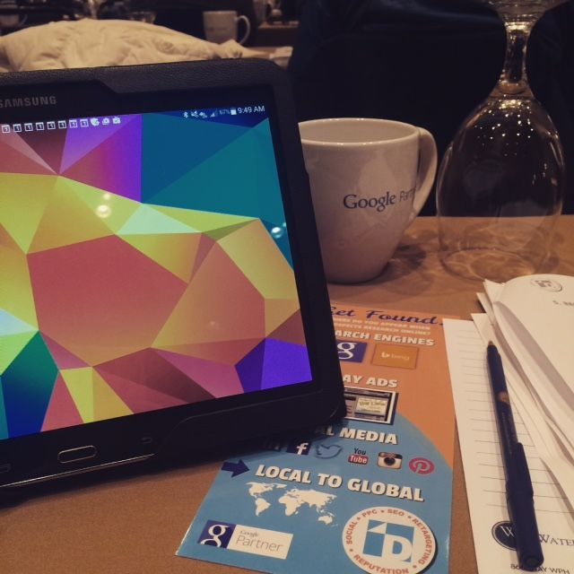 Google Mug, Rack Card, and a Tablet - the essentials for a great event!