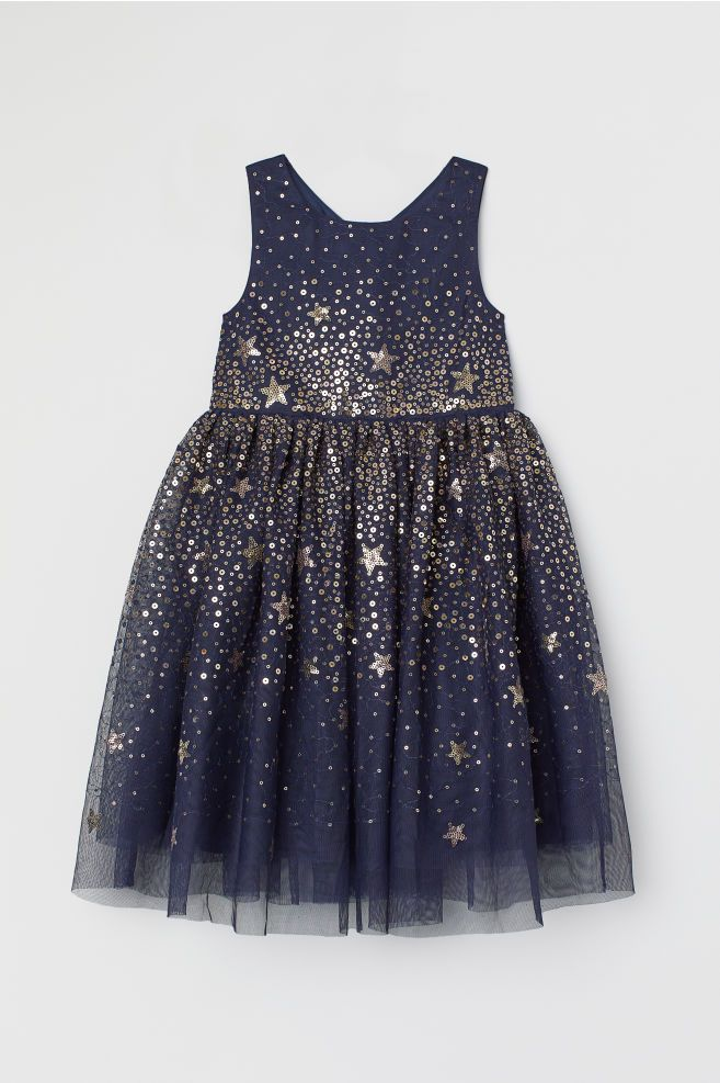 3222432a6 Tulle Dress with Sequins | H&M - Girl | Tulle dress, Dresses, Tulle