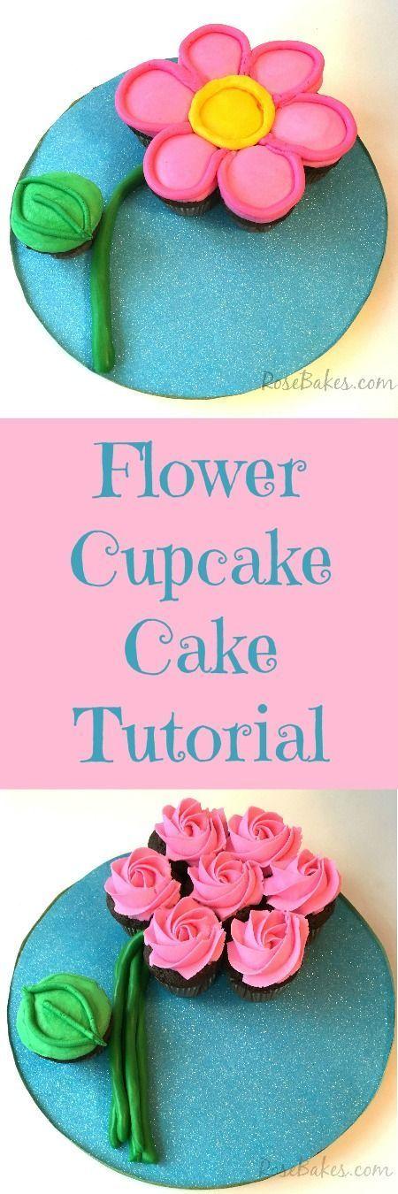 Flower Cupcake Cake Tutorial