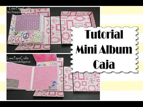 Tutorial Mini álbum fácil para principiantes - YouTube