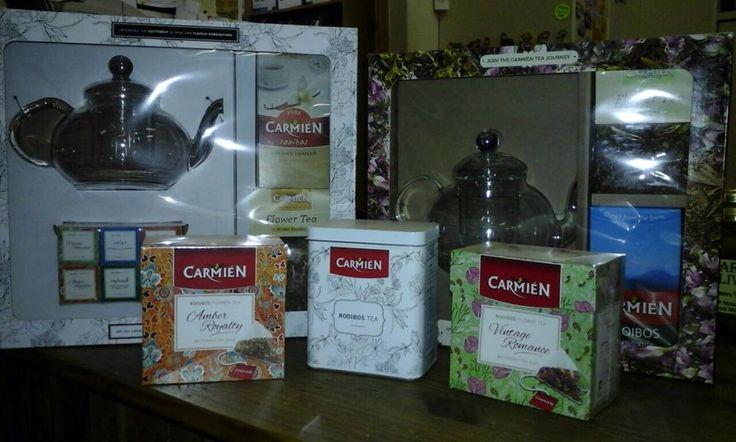 Nuut op ons rakke (Aug 2015).....Carmien Tee geskenkpakke.