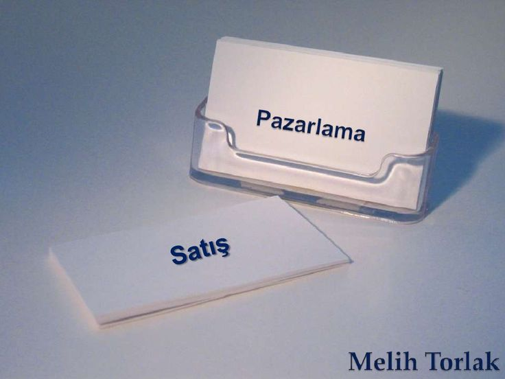 Pazarlama ≠ Satış by Melih Torlak via slideshare