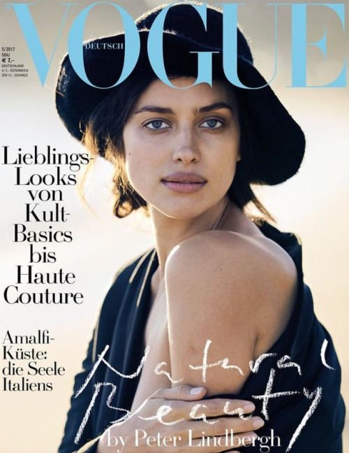 Irina Shayk for Vogue Germany by Peter Lindbergh.