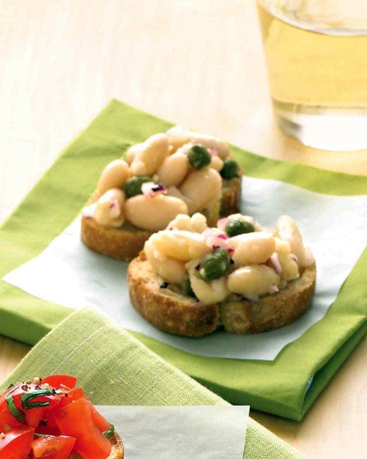 White-Bean and Caper Crostini