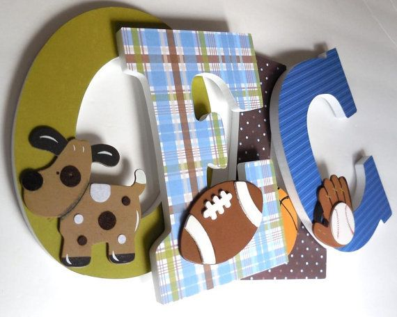 1000+ Ideas About Wooden Letters For Nursery On Pinterest