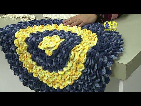 Vida com Arte | Tapete Redondo em Crochê por Cristina Luriko - 22 de Jun...