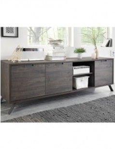 Buffet contemporain couleur wengé ALBERTON