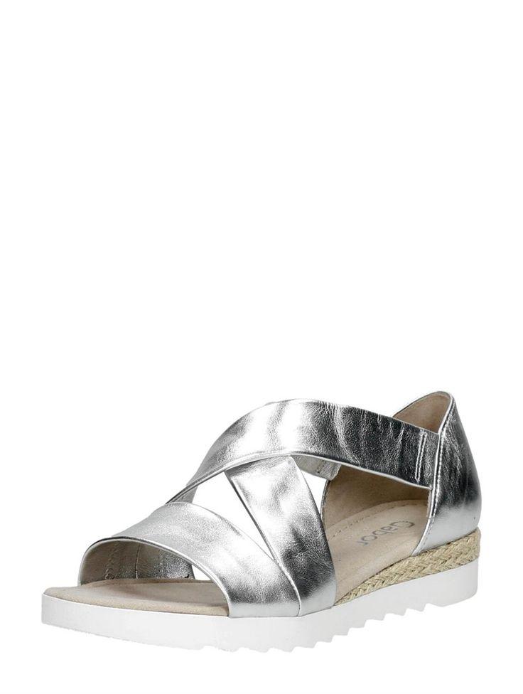 Stijlvolle zilveren sandaal van Gabor