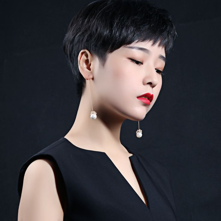 Exquisite Fashion Design Pearl Long Chain Earrings For Lady Copper Flower Dangle Earrings Womens Wedding Jewelry