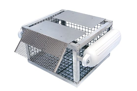 If you have fish, then you will have turtles. Very often managed ponds will get overpopulated with turtles because of the increased food source. Thinning the turtle numbers is as easy as dropping in one of our Pond King Floating Turtle Traps. Our sun-bathing turtle trap consists of an all welded aluminum frame and flippers with stainless steel hinges. When turtles climb up to sun, they will fall into the trap. The Pond King Floating Turtle Trap will hold as many as 50 adult turtles.