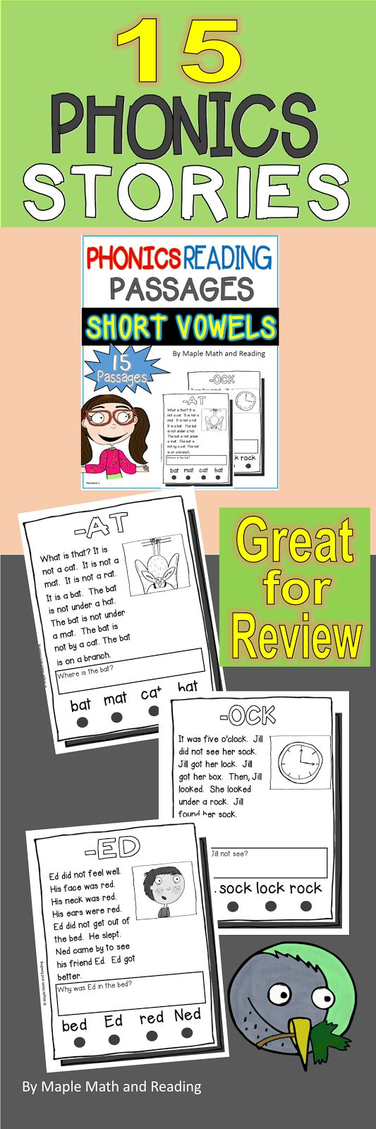 Best 25 short o sound ideas on pinterest short o short vowel 15 phonics stories are included for review review the short a e i robcynllc Gallery