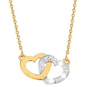14karaat geelgouden ketting & hanger diamant hart (1014110)