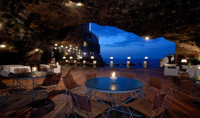 Unique Wedding Venue: On the Rocks Picture an intimate 25 room hotel perched atop a rocky cliff overlooking the Adriatic Sea…in a quaint town called Polignano a Mare in Puglia, Italy.
