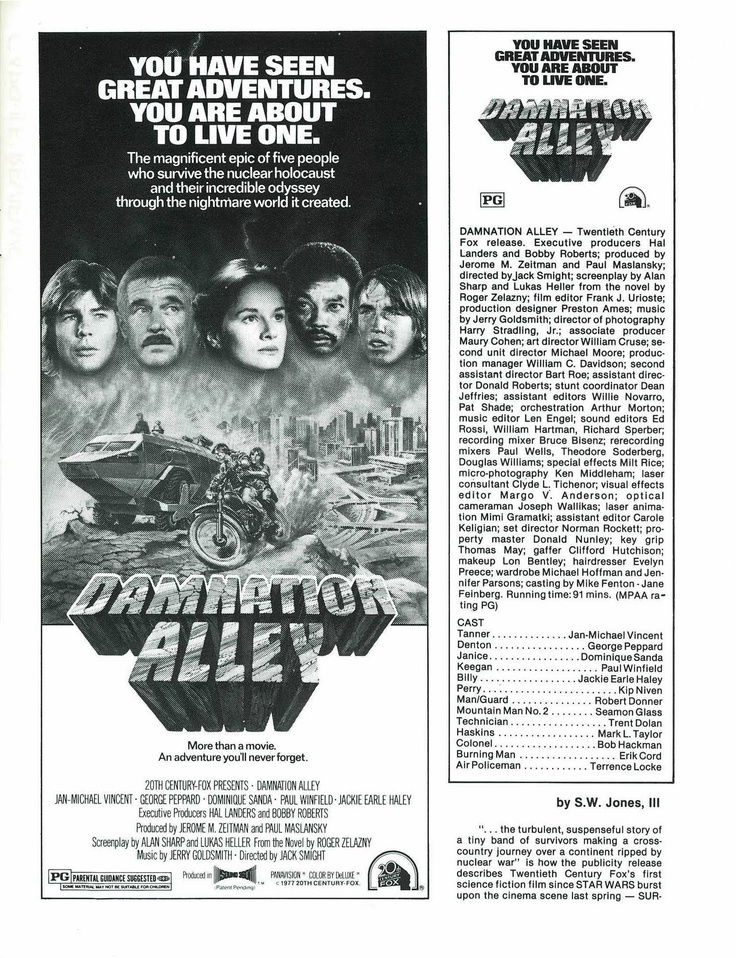 52 best Damnation Alley - (1977) images on Pinterest Vehicles - publicity release form