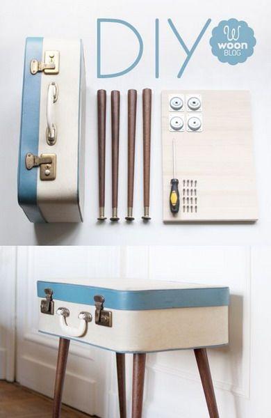 Винтажные чемоданы и сундуки в роли прикроватной тумбочки: 47 фото идей для интерьера спальни