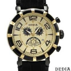 DEDIA Chronograph Swiss Movement Diamond Men's Watch