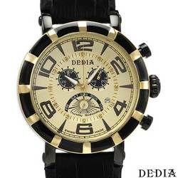 DEDIA Chronograph Swiss Movement Diamond Men's Watch