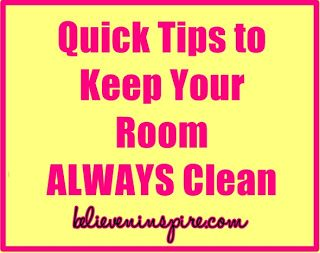 room tips, tips to keep your room clean, teenage room tips....not sure if this really works but.......wouldnt hurt to try!