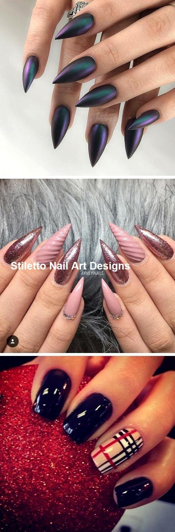 30 Ideen für großartige Stiletto-Nageldesigns #stiletto #stilettonails – nailart