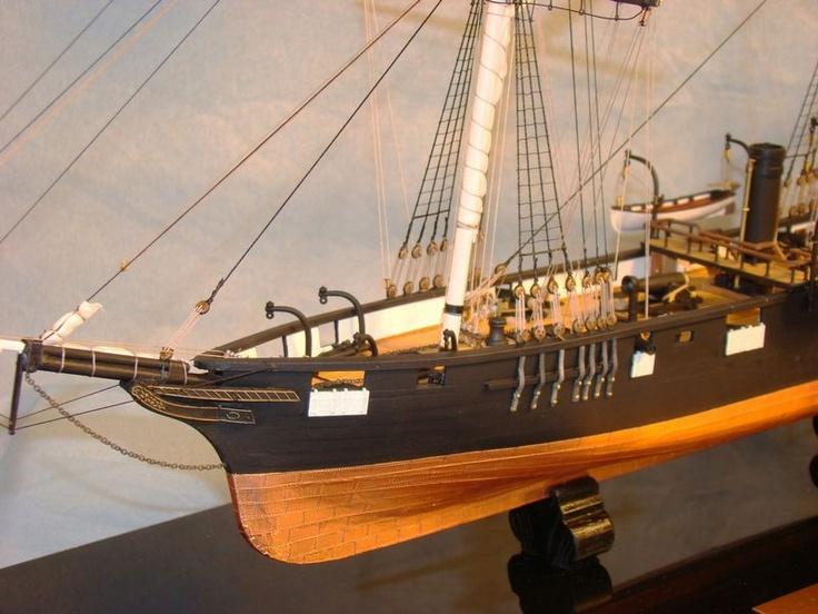 CSS Alabama scale model ship
