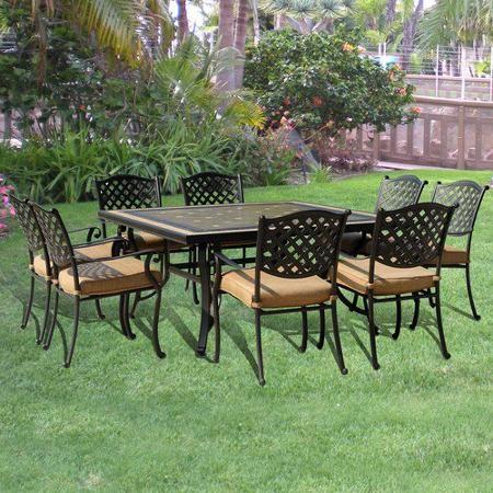 agio international panorama outdoor 9 piece high dining patio set. sunjoy baxter 9-piece outdoor dining set agio international panorama 9 piece high patio