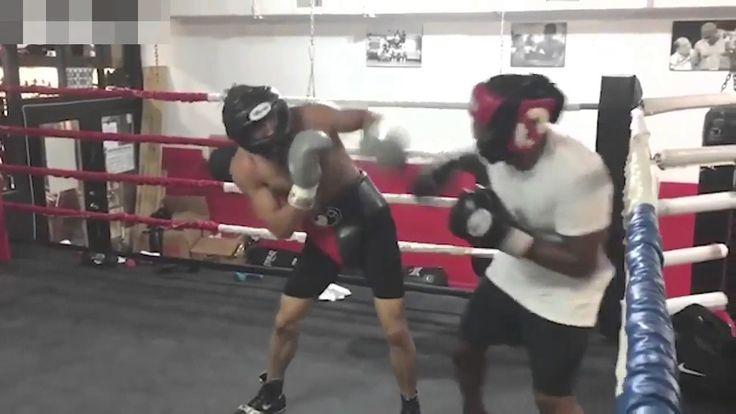 Chris Eubank Jnr boxing a terrified Dizzee Rascal while David Haye comme...