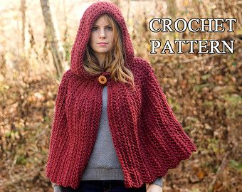 138 best capes images on pinterest crochet baby poncho hand crochet pattern hooded cape pattern crochet cloak pattern red riding hood capelet instant dt1010fo