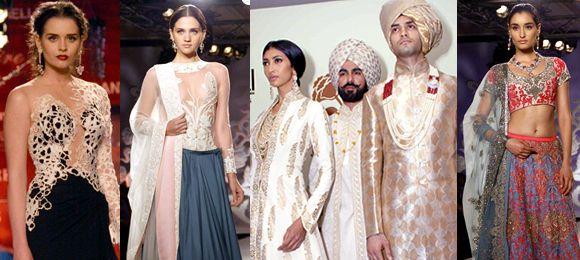 """Designer Monisha Jaising with her """"World Bride"""" collection"""