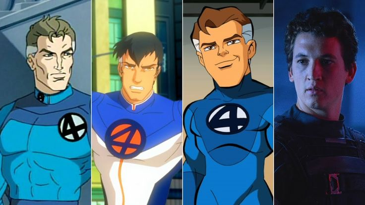 Evolution of Mr. Fantastic in movies and cartoons