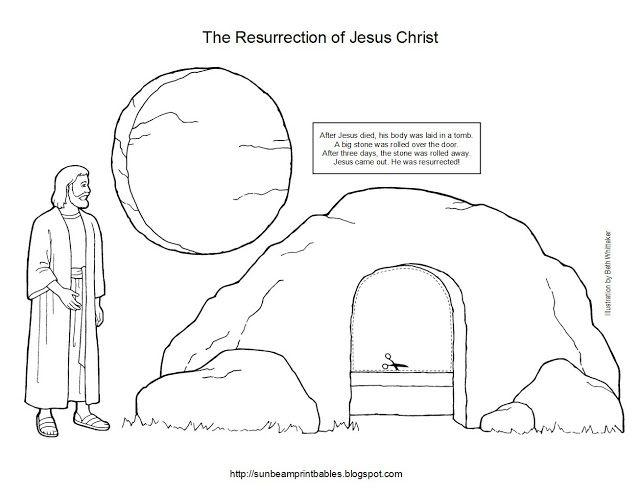 Sunbeam Printables: Easter Craft for Lesson 45: The Resurrection of Jesus Christ