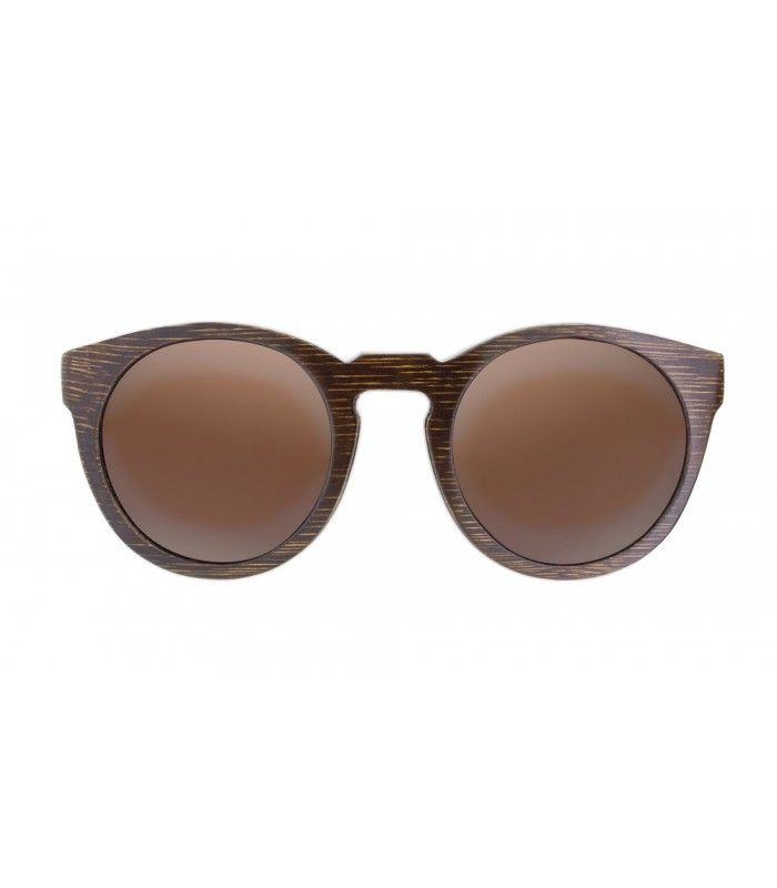 Cherry Tree Venice - Wooden sunglasses Round Bamboo Carbonized