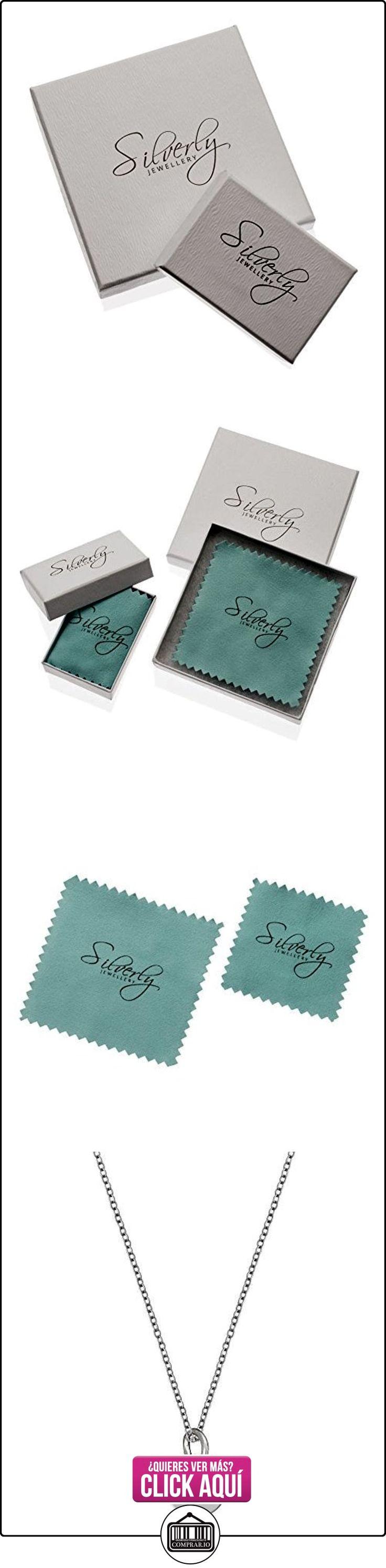 Silverly Pendiente De La Mujer En Plata De Ley 925 Redonda Letra Inicial Collar Alfabeto, 46 Cm  ✿ Joyas para mujer - Las mejores ofertas ✿ ▬► Ver oferta: https://comprar.io/goto/B01LWVSQCX